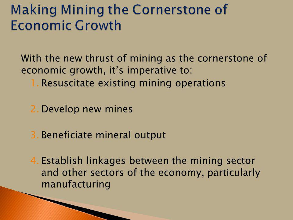 Making Mining the Cornerstone of Economic Growth