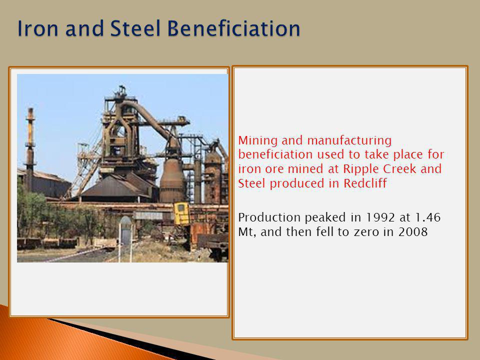 Iron and Steel Beneficiation