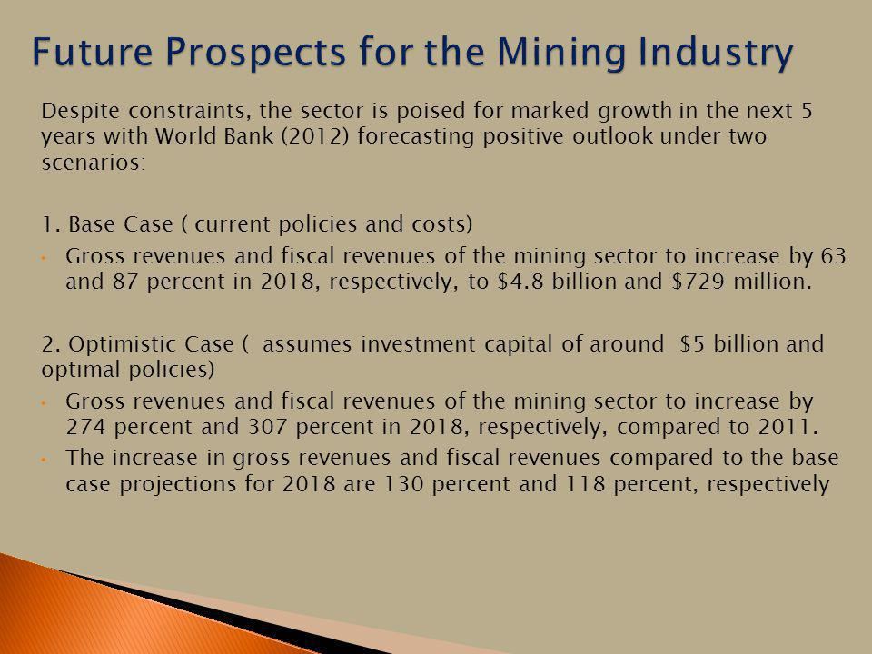 Future Prospects for the Mining Industry
