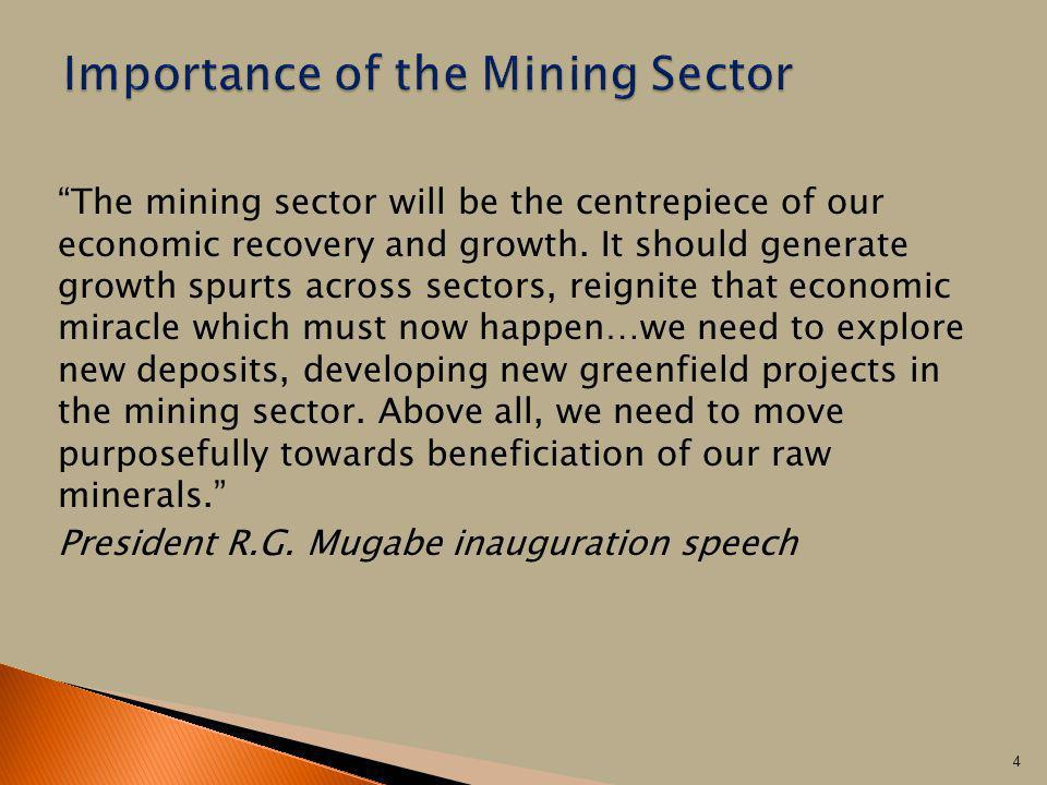 Importance of the Mining Sector