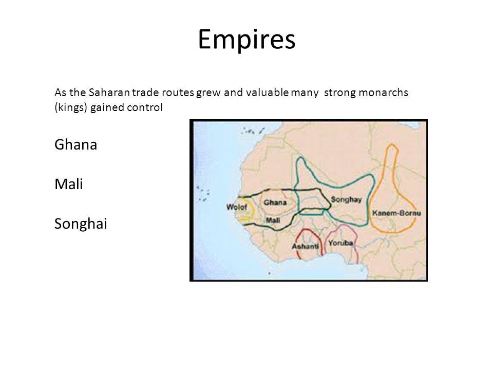 Empires Ghana Mali Songhai