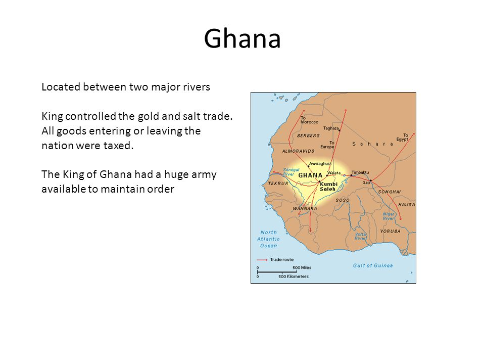 Ghana Located between two major rivers