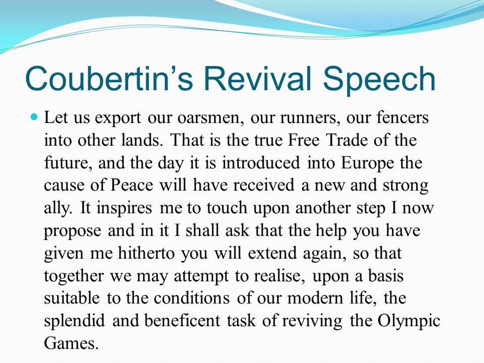 Coubertin's Revival Speech