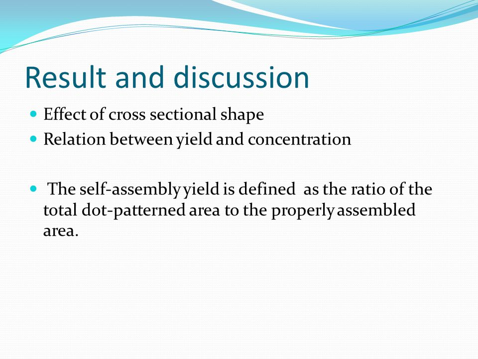 Result and discussion Effect of cross sectional shape