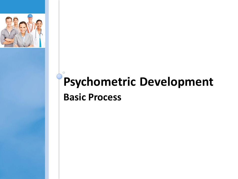 Psychometric Development Basic Process