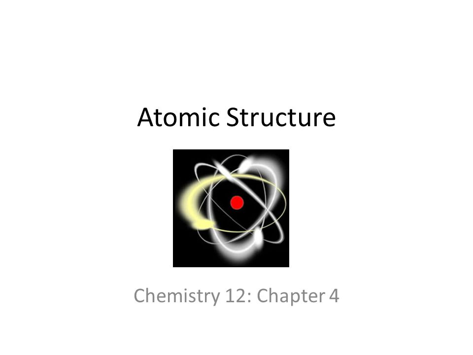 Atomic Structure Chemistry 12: Chapter 4 Atoms and Molecules