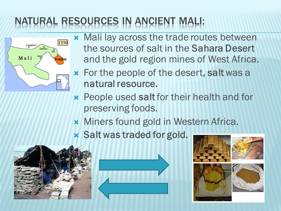 Natural Resources in ancient mali: