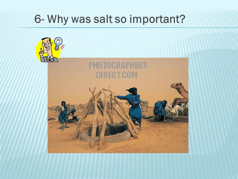 6- Why was salt so important