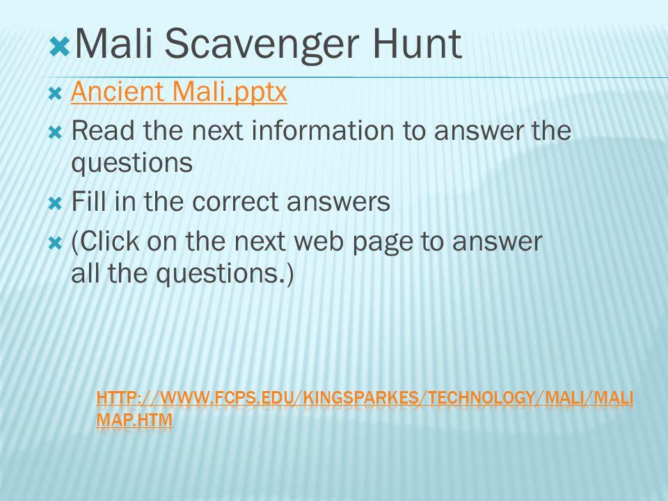 Mali Scavenger Hunt Ancient Mali.pptx