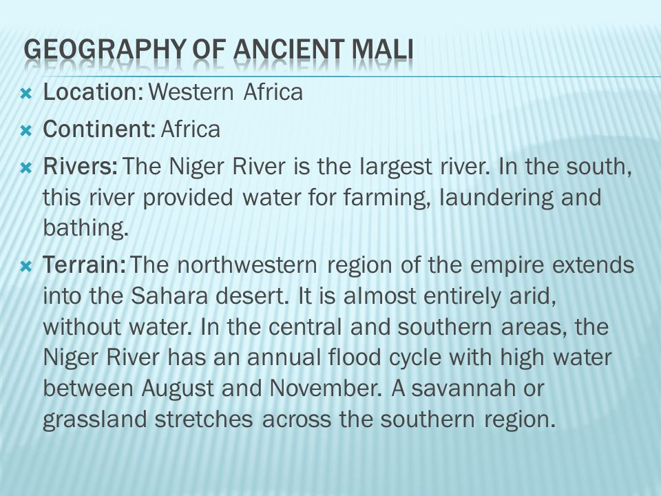 Geography of Ancient Mali