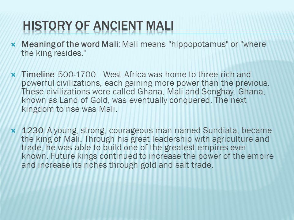 History of Ancient Mali