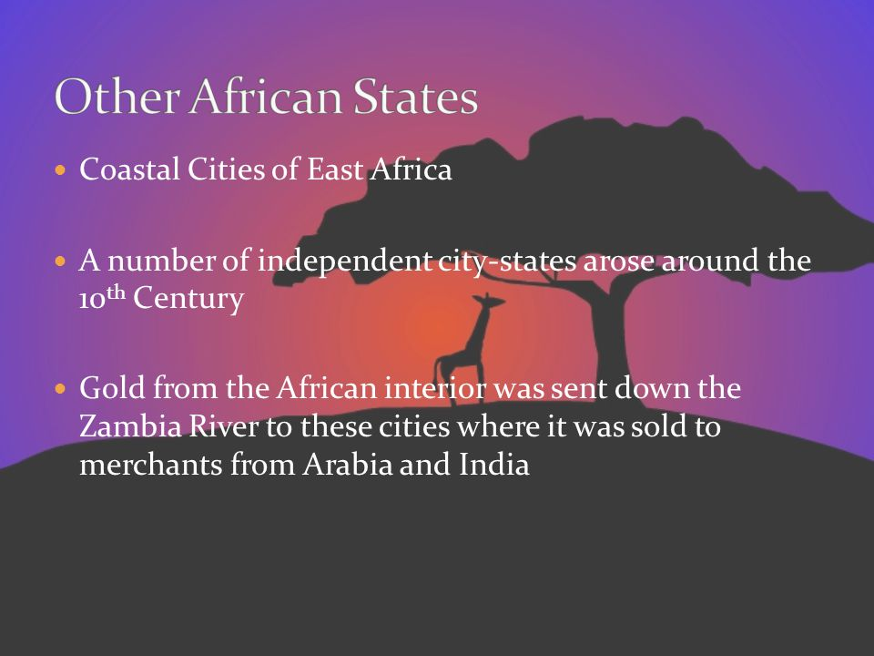 Other African States Coastal Cities of East Africa