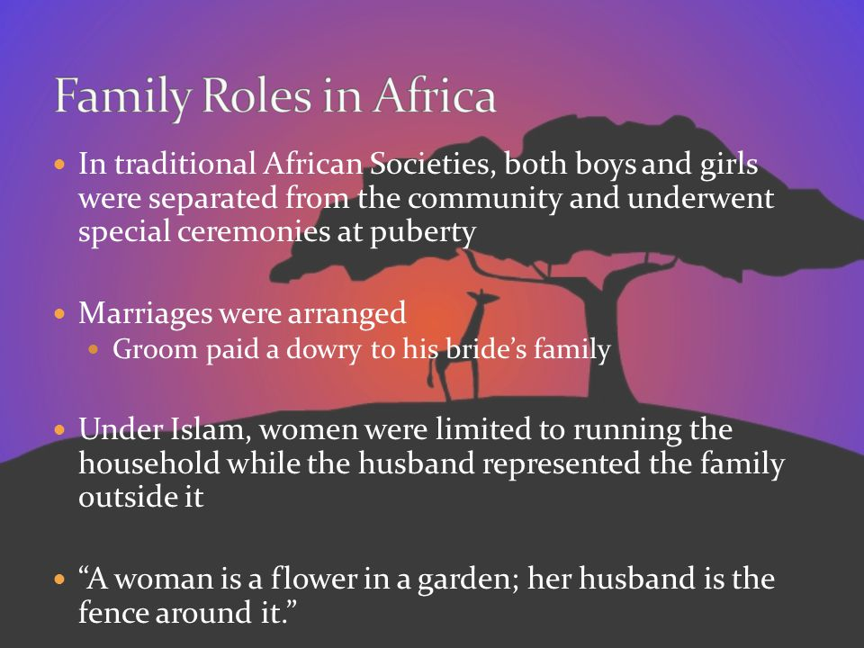 Family Roles in Africa