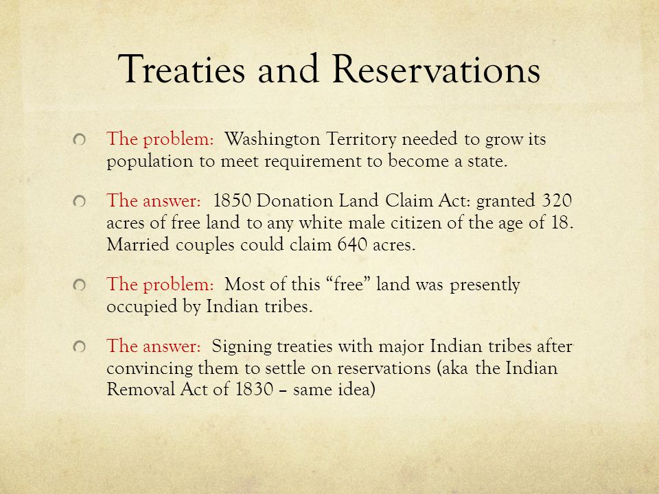 Treaties and Reservations