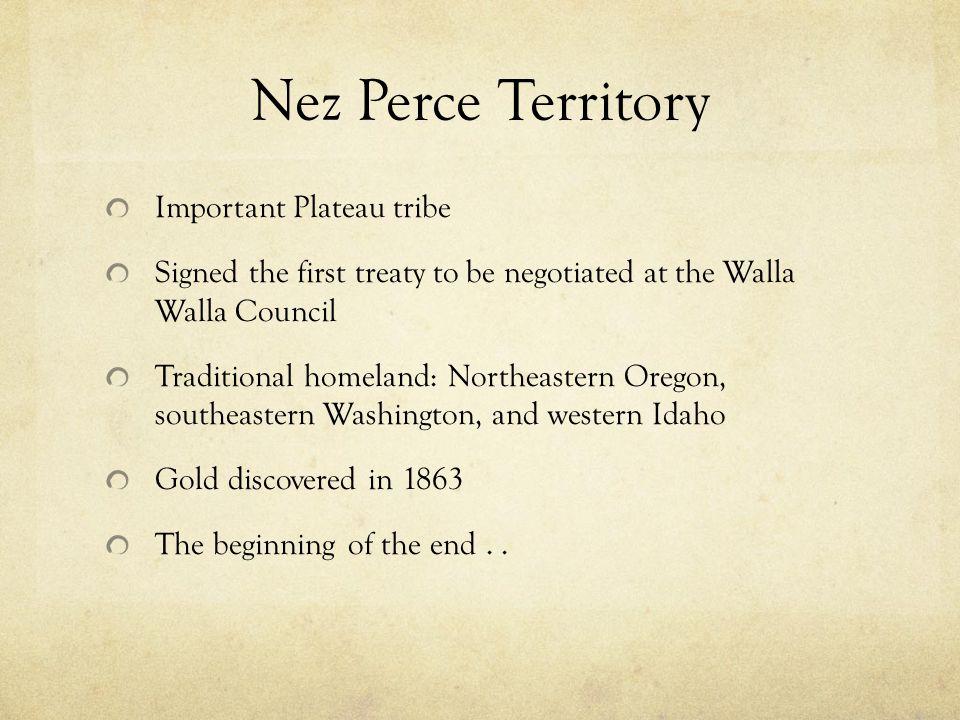 Nez Perce Territory Important Plateau tribe