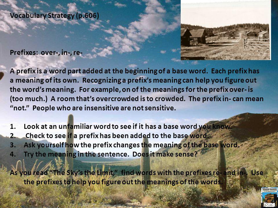 Vocabulary Strategy (p.606)