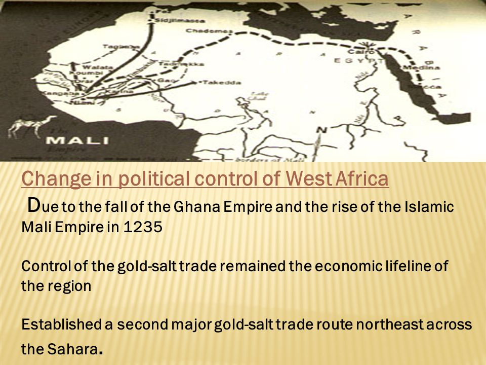 Change in political control of West Africa