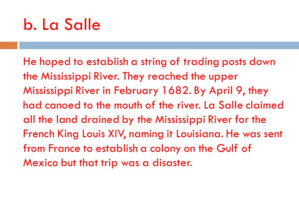 b. La Salle