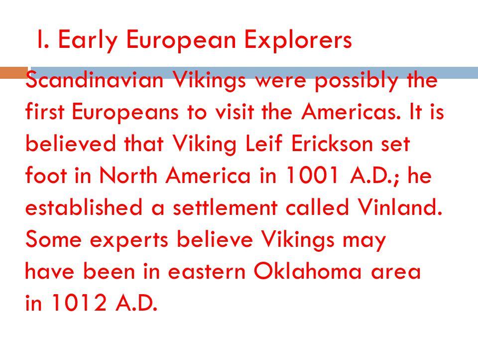 I. Early European Explorers