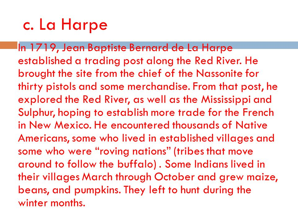 c. La Harpe