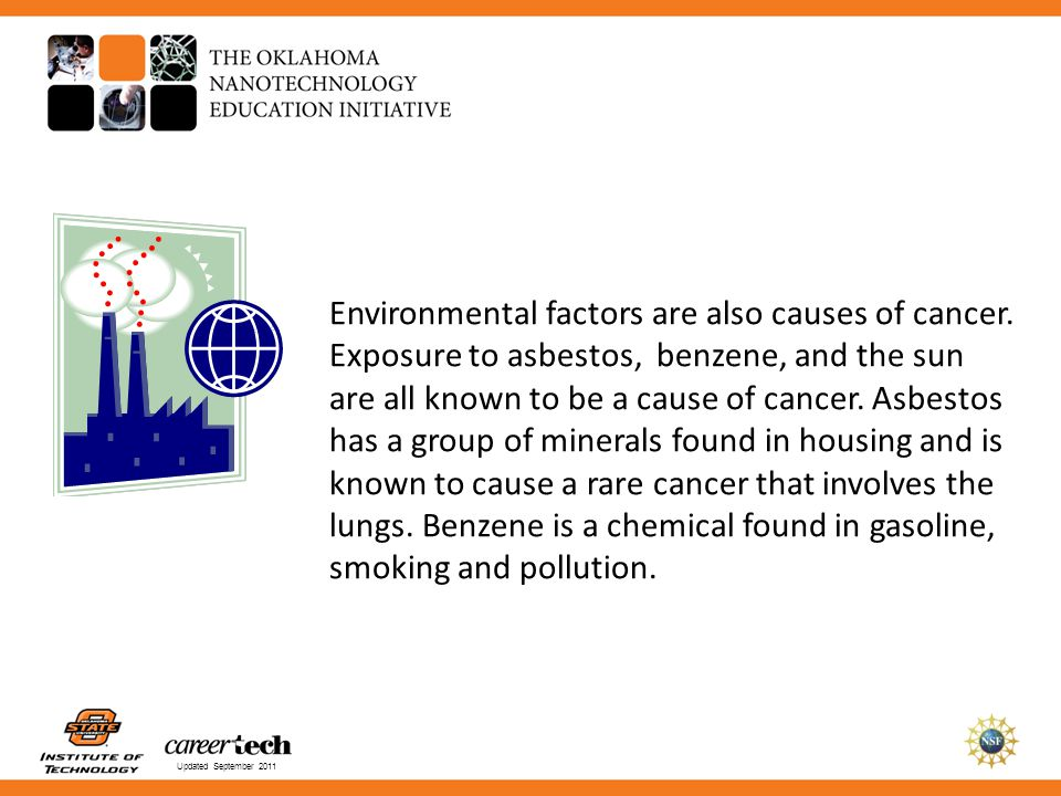 Environmental factors are also causes of cancer