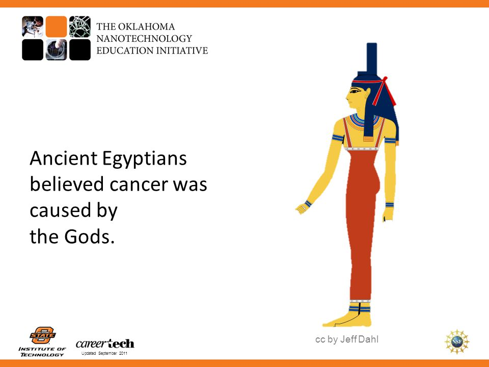 Ancient Egyptians believed cancer was caused by the Gods.