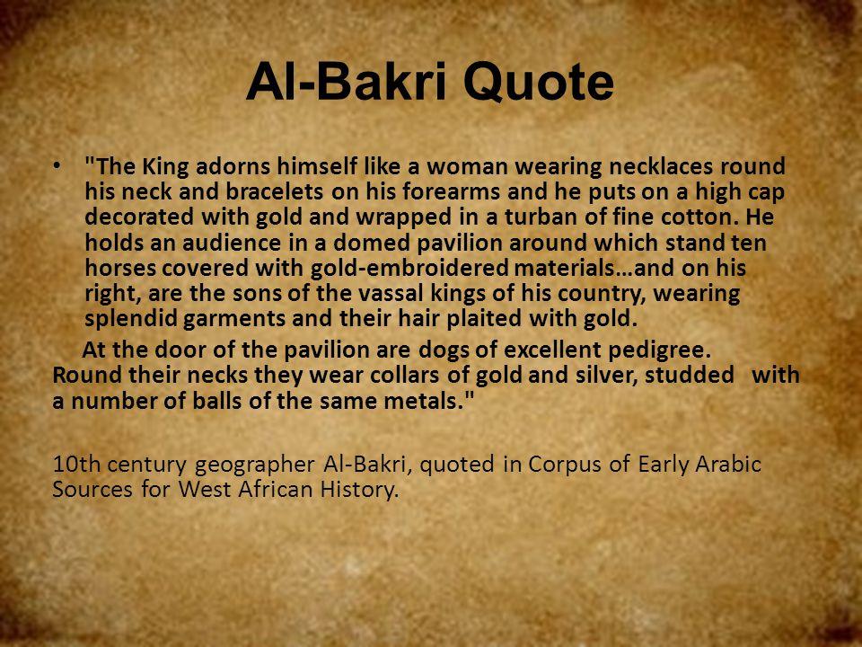 Al-Bakri Quote