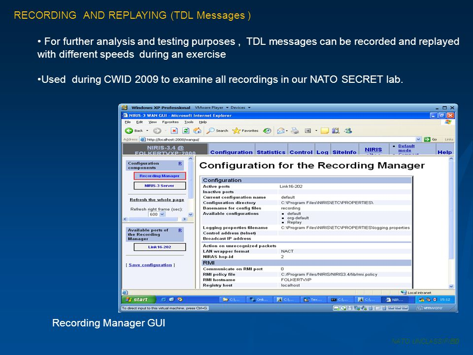 RECORDING AND REPLAYING (TDL Messages )
