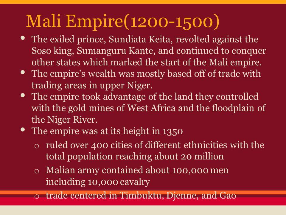 Mali Empire(1200-1500)