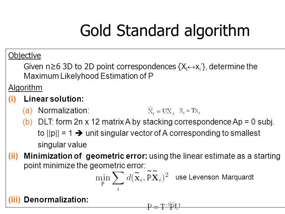 Gold Standard algorithm