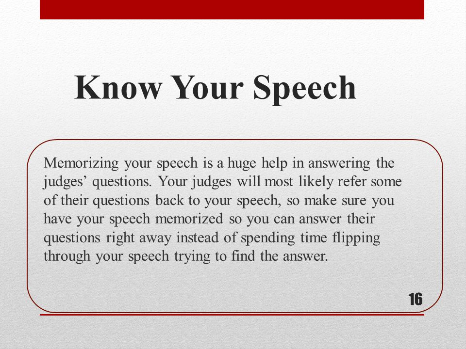 Know Your Speech