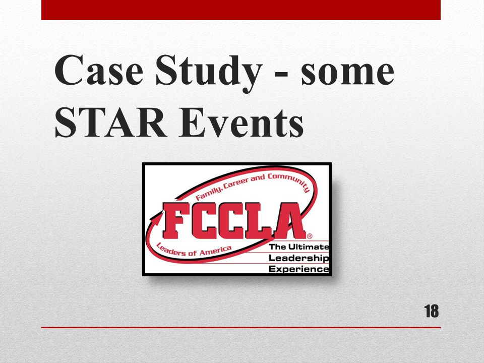 Case Study - some STAR Events