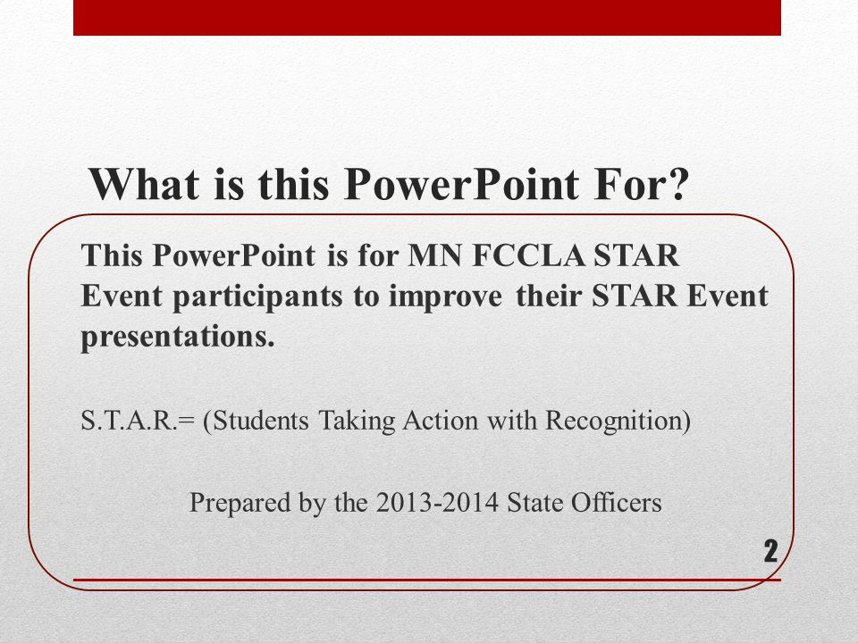 What is this PowerPoint For