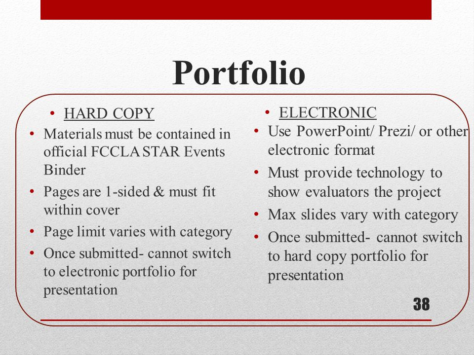Portfolio HARD COPY ELECTRONIC