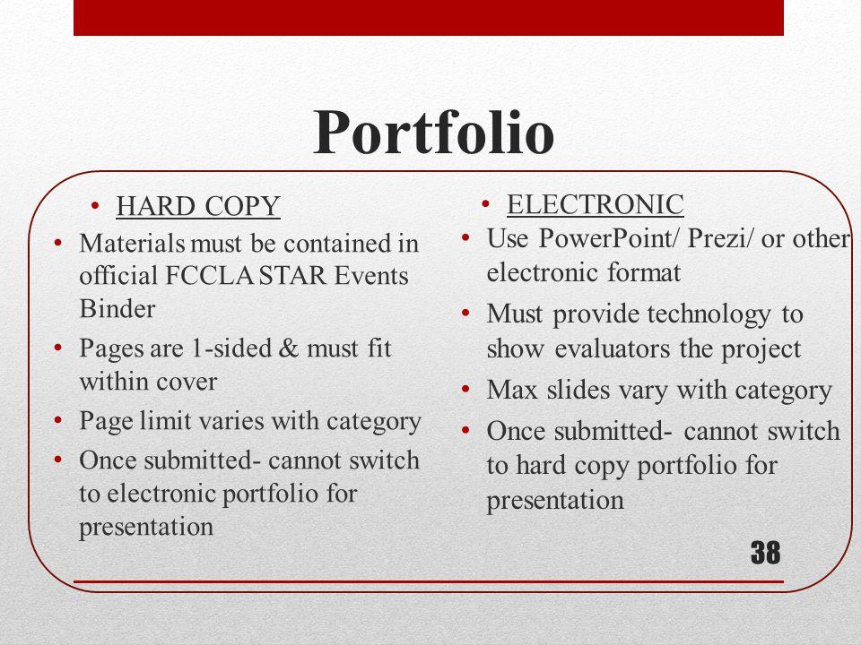 Portfolio HARD COPY ELECTRONIC