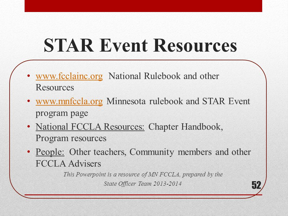 This Powerpoint is a resource of MN FCCLA, prepared by the