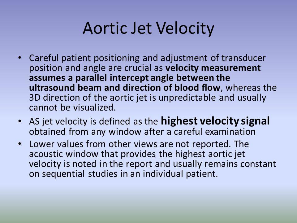 Aortic Jet Velocity
