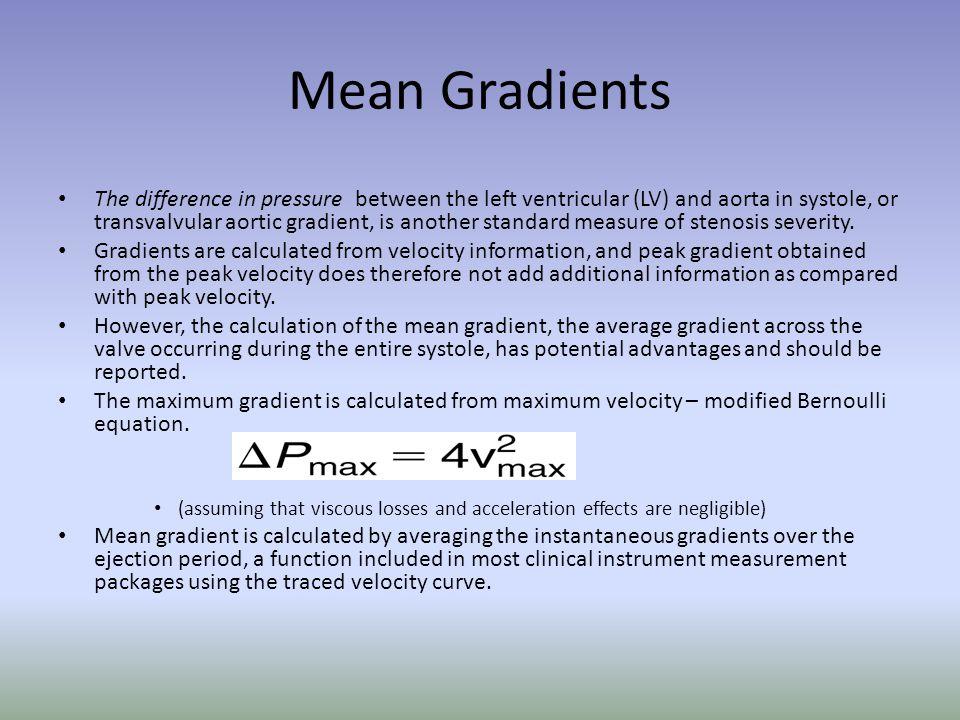 Mean Gradients
