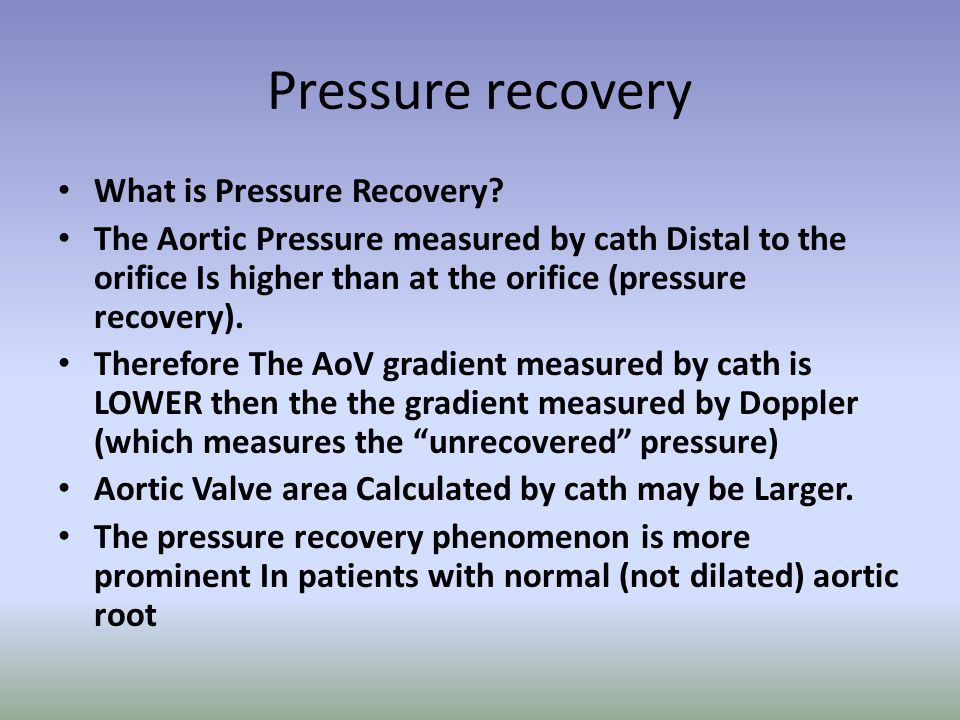 Pressure recovery What is Pressure Recovery