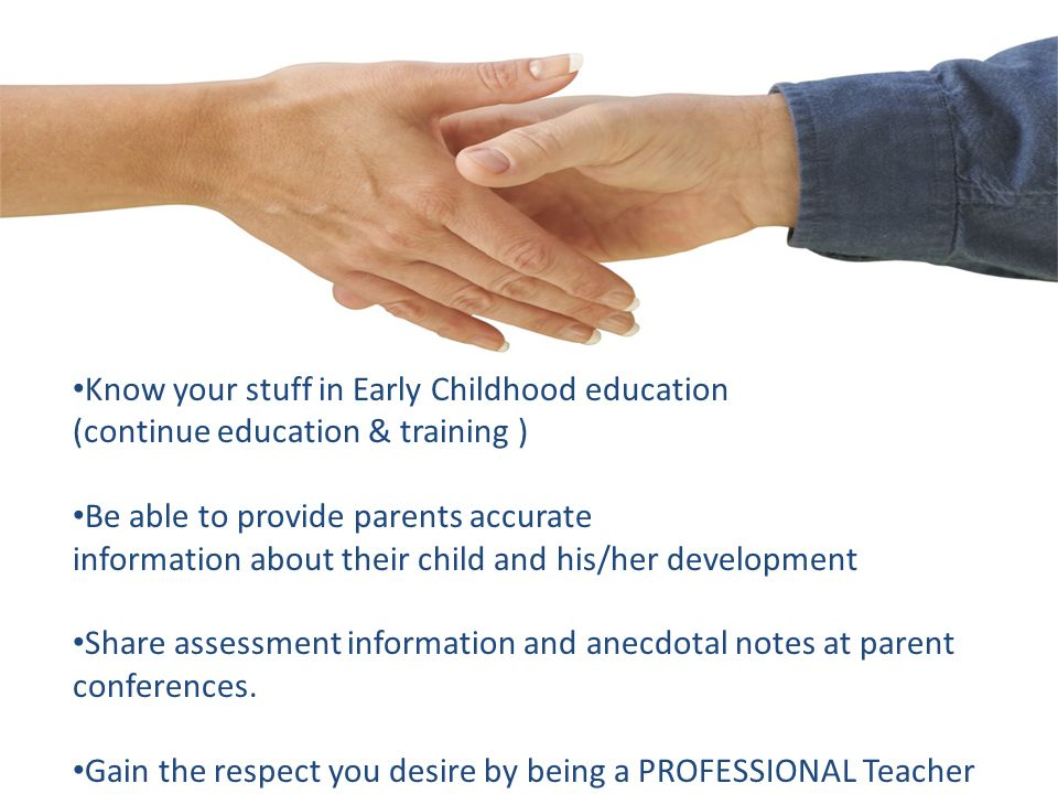 Know your stuff in Early Childhood education