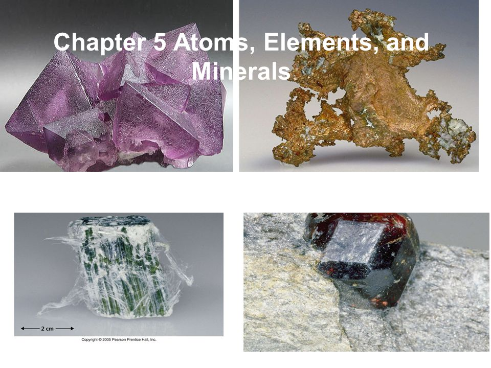 Chapter 5 Atoms, Elements, and Minerals