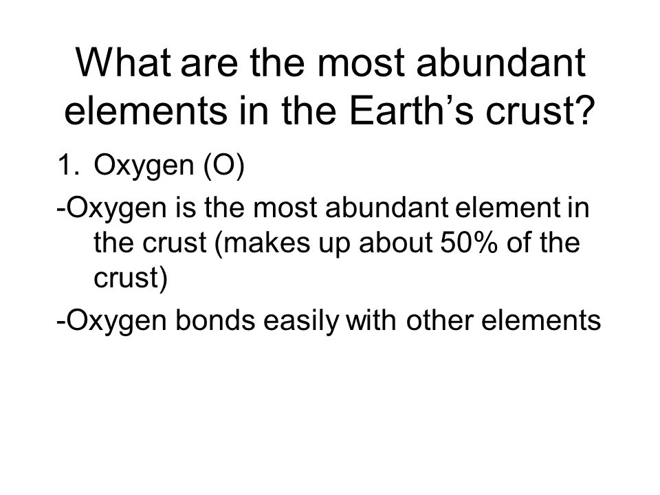 What are the most abundant elements in the Earth's crust