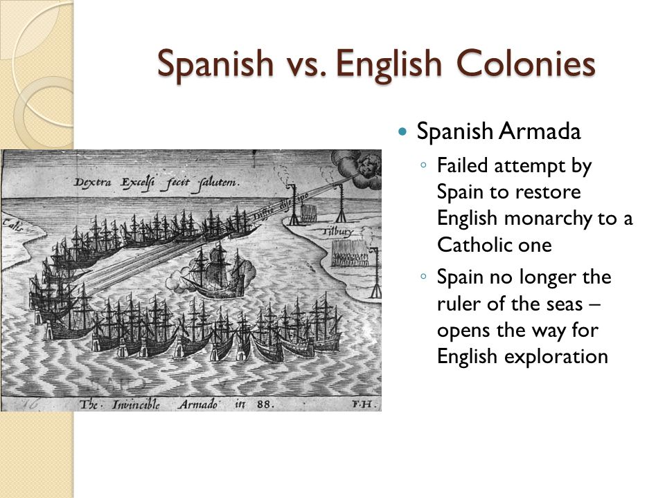 Spanish vs. English Colonies