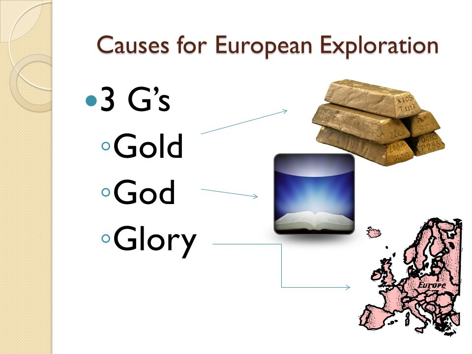 Causes for European Exploration