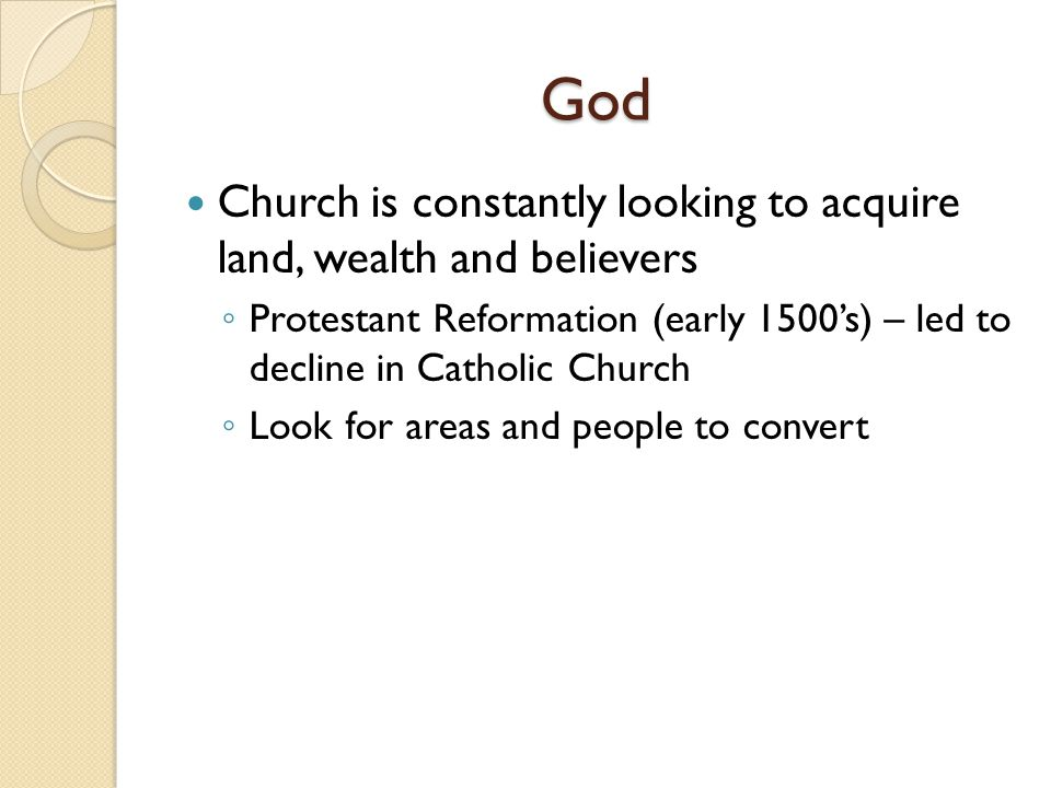 God Church is constantly looking to acquire land, wealth and believers