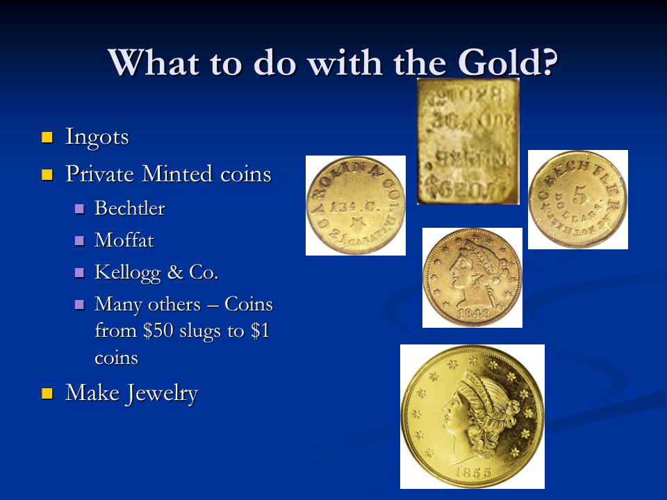 What to do with the Gold Ingots Private Minted coins Make Jewelry