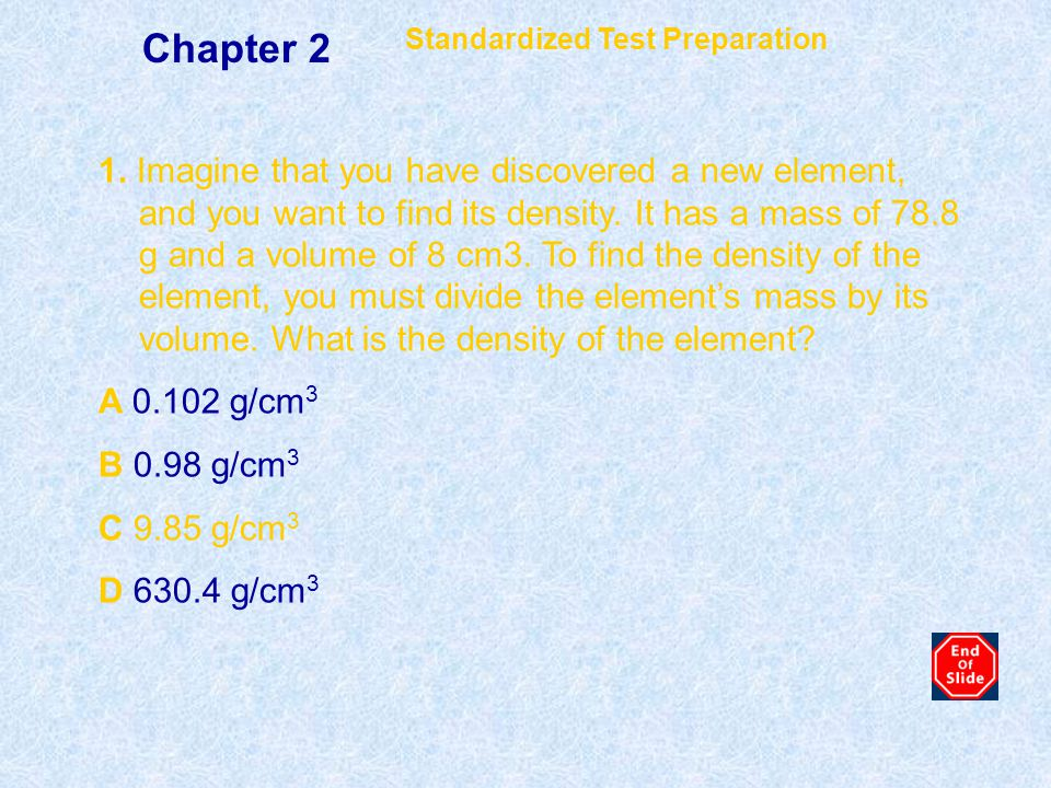 Chapter 2 Standardized Test Preparation.