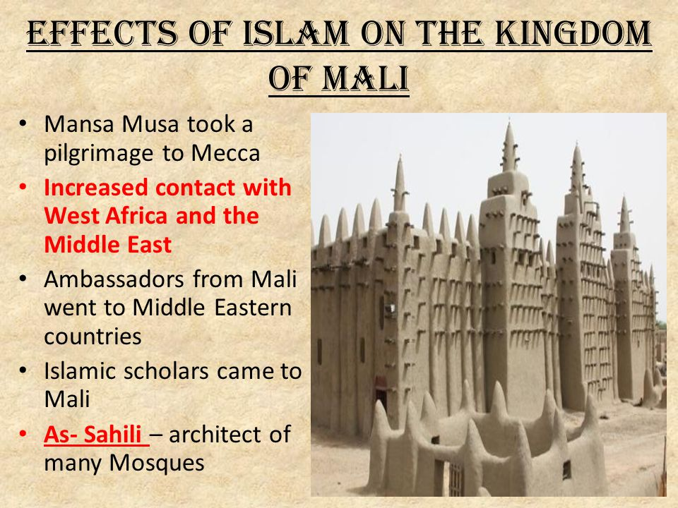 Effects of Islam on the Kingdom of Mali