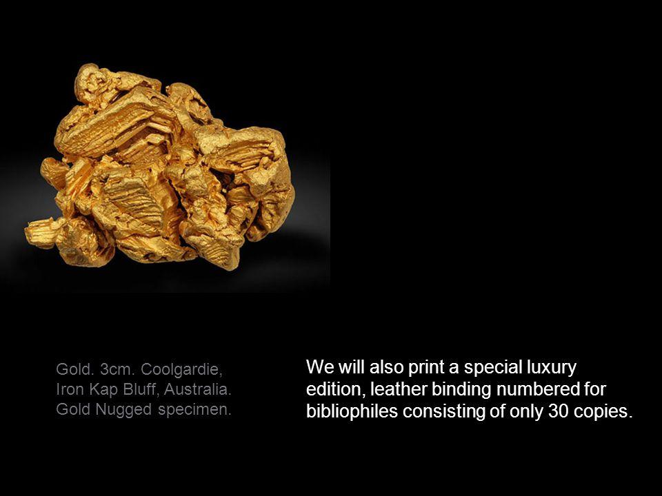 Gold. 3cm. Coolgardie, Iron Kap Bluff, Australia.