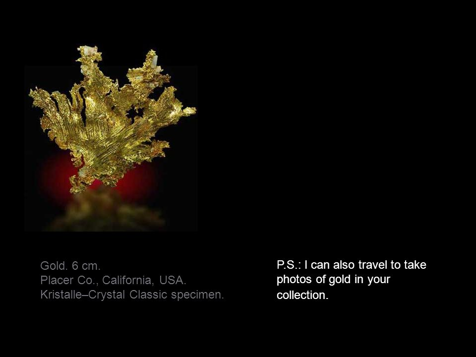 Placer Co., California, USA. Kristalle–Crystal Classic specimen.